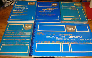 1992 Gmc Syclone Typhoon Sonoma Gt Jimmy Shop Service Manual Wiring Set Of 5 Ebay