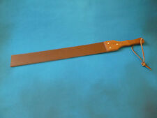 """Heavy Leather Punishmen Strap wood handle 8mm thick 64mm x 690mm 2½""""x27"""" (cane)"""