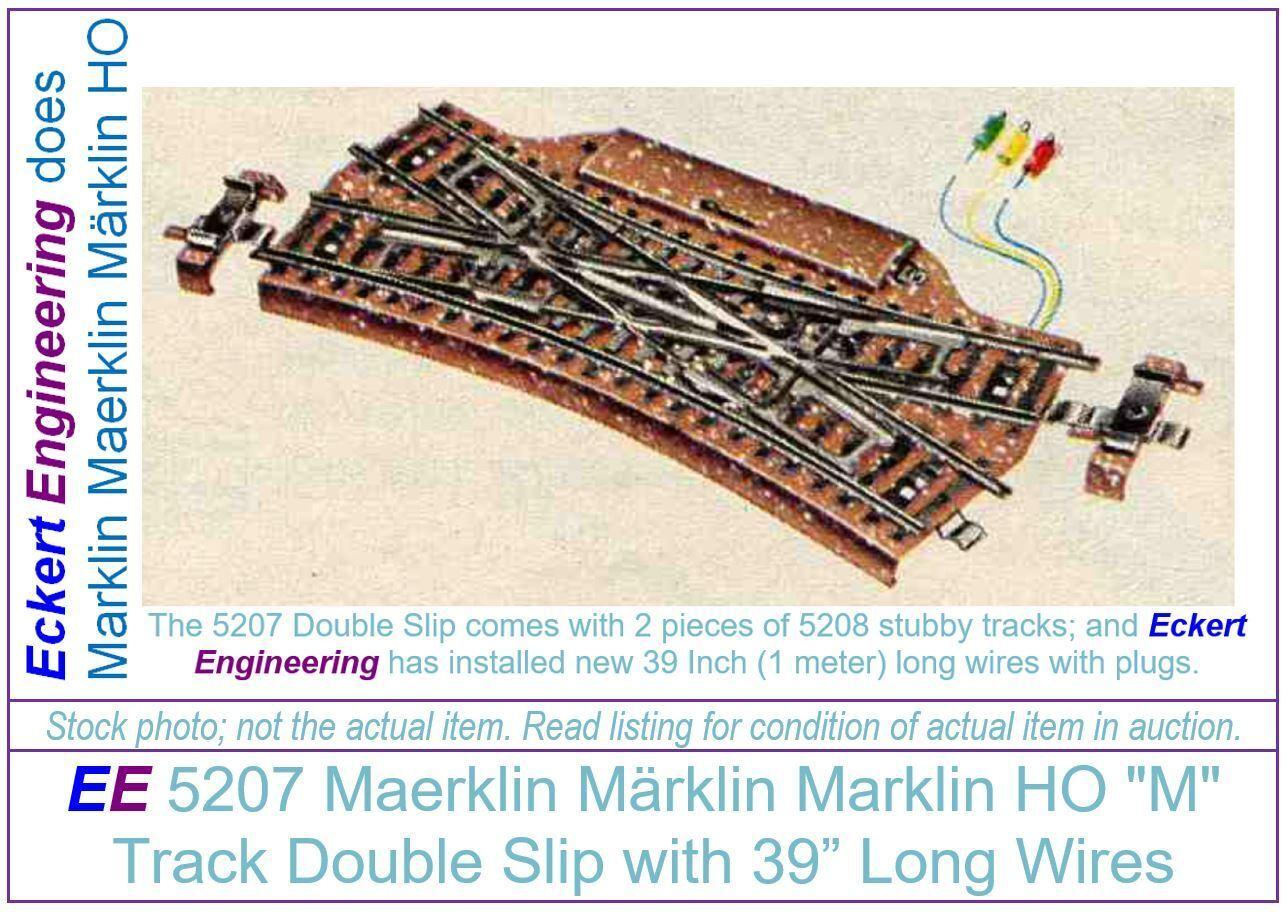 EE 5207 muy buen Marklin Ho  M  seguimiento doble Slip sin caja original (Nbx)