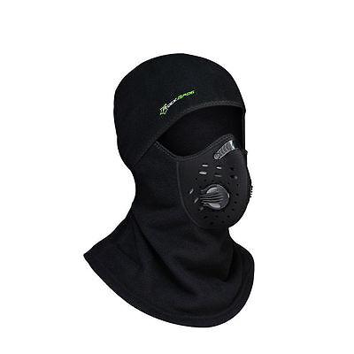 RockBros Cycling Masked Cap Windproof Anti-fog Hat Outdoor Headwear Color Black