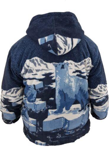 Nueva chaqueta para mujer estampado animal Doble Polar con Bolsillos Y Capucha Suave y Cálido