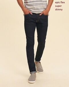 Nwt Hollister By Abercrombie Men Super Skinny Epic Flex Jeans All Size Ebay