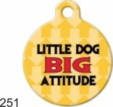 Cute Custom Personalized Pet ID tag for Dog and Cat Collars unique ROUND CUTE