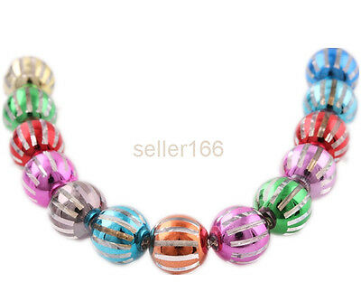 50 PCS Mixed color Acrylic Beads Rondlle Spacer Fun jewelry findings Charms 10mm