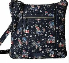 Vera Bradley Iconic Hipster 100 Cotton Pattern Holiday Owls