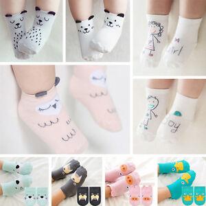 Baby-Socken-Junge-Maedchen-Cartoon-Baumwolle-Socken-NewBorn-Saeugling-Socken-0-4Y