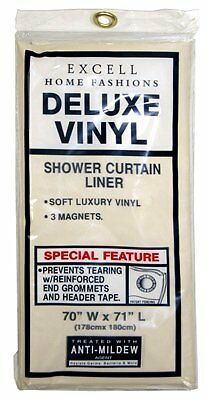 """Bone 70/"""" x 71/"""" Ex-Cell 1ME-040O0-0699-111 Deluxe Magnetic Shower Liner"""