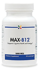 Stop Aging Now MAX-B12 Vitamin B12 5000 mcg Lozenges, 1-Pack