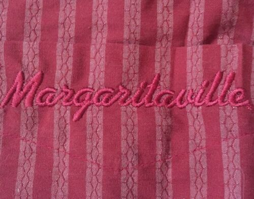 Jimmy Buffet's Margaritaville Embroidered Striped Camp Shirt Size Small