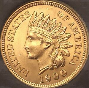1900-Indian-Head-Penny-4-SHARP-DIAMONDS-AWESOME-COIN-Cleaned