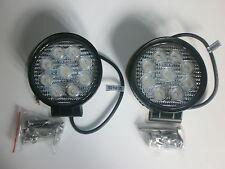 LED Work Lights Pair 27W 12V & 24V Off Road, Work Light, Reversing 1620 Lumens