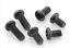25//100pcs Black Metric Thread Phillips Cross Pan Round Head Screw Bolt M1.4-M3