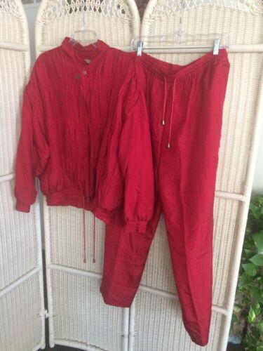 Vintage Robert Stock 90s Burgundy Tracksuit Jacket