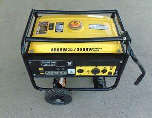 Image Is Loading Champion 4000 Watt Gas Portable Gasoline Generator W
