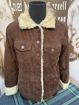 Beige Faux Fur Long Gilet Sleeveless Waistcoat Size S-M 8//10 /& M-L 12//14 NEW