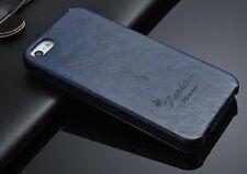 iPhone SE Farbe Blau Schön Etui Hülle Tasche Leder Klapp Case Flip Luxus