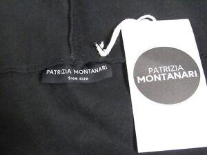 Patrizia Montanari Black Unisex Over Coat Cape Hoodie - Free Size - NEW w/ Tag
