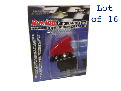 Pilot Racing Universal Switch Toggle with Red Safety Cover PL-SW26 NEW 5 Pack!