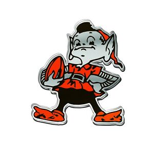 Details About Cleveland Browns Premium Chrome 3 D Auto Emblem Custom Exclusive Brownie Elf
