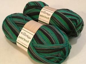 2-WILLOW-YARNS-PAINT-BRUSH-DARK-IRIS-3-5-OZ-459-YDS-EACH-75-WOOL-25-NYLON