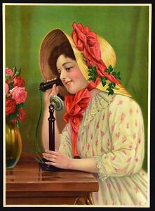 Vintage Victorian Print. Chromolithograph #5976. Germany. NICE! c.1910's.