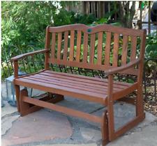 Outdoor Wooden Bench Glider Rocking Gliding Porch Love Seat Garden Patio Chair