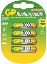 4x GP AAA 1000 MICRO PROFESSIONAL AKKU SERIES NiMH NEUE TECHNOLOGY ---OVP -- NEU