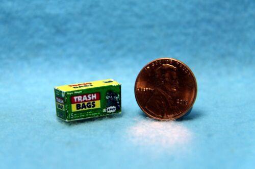 Dollhouse Miniature Replica Box of Trash Bags ~ HR55062