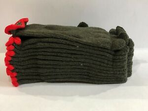 1//2 Dozen Army Green Rag Wool Gloves Size Small Pack of 6
