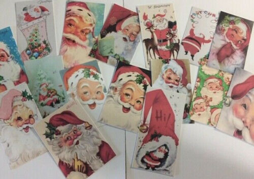 Vintage Style Santa/'s CHRISTMAS CARDS DIE CUTS//Gift Tags 32 Piece SC-16//32