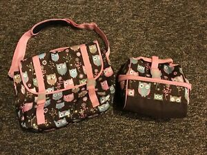 Pottery Barn Owl Messenger Bag With Matching Lunch Box T81