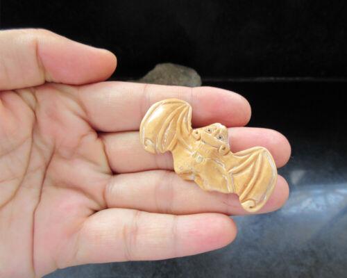 Vintage handwork Netsuke necklace pendant carving Bat SYSN-204