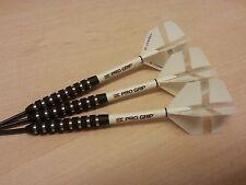 24g Black NODOR TUNGSTEN Darts Set,Vision WHITE George X Flights, Pro Grip Stems