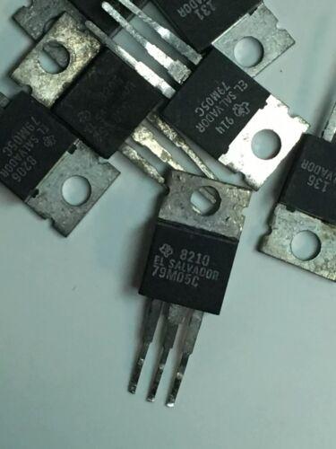 Lot of 25 Texas Instruments 79M05C Silver Voltage Regulators