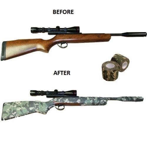 1Pc Self-adhesive Grass Camouflage WRAP RIFLE GUN Hunting Camo Stealth Tape 4.5M
