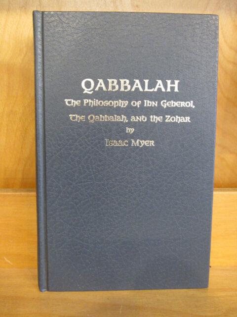 Qabbalah: The Philosophy of Ibn Gebirol & the Zohar (Secret Doctrine Refe - GOOD