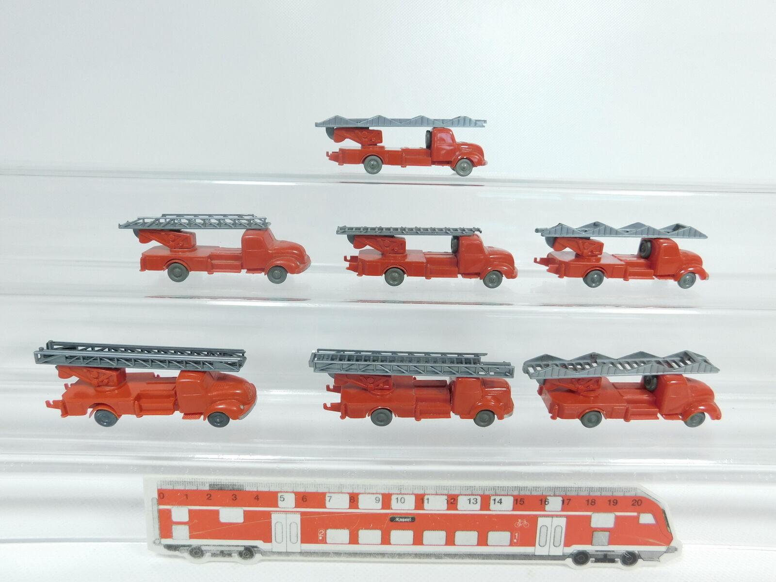 Aw462-0, 5  7x Wiking h0/1:87 hobbisti modelli MAGIRUS/MB/Vigili del Fuoco 620 unverglast