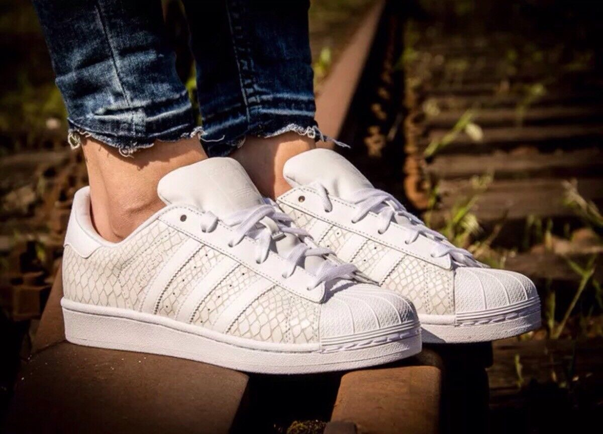 ADIDAS SUPERSTAR S75127 ATHLETIC WOMEN'S SHOES WHITE