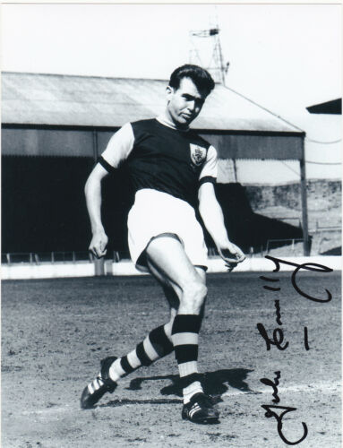 JOHN CONNELLY BURNLEY DECEASED SIGNED ACTION 8 x 6 PHOTOGRAPH