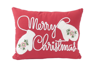 Hallmark Home Merry Christmas Mittens Pillow 2 Pack