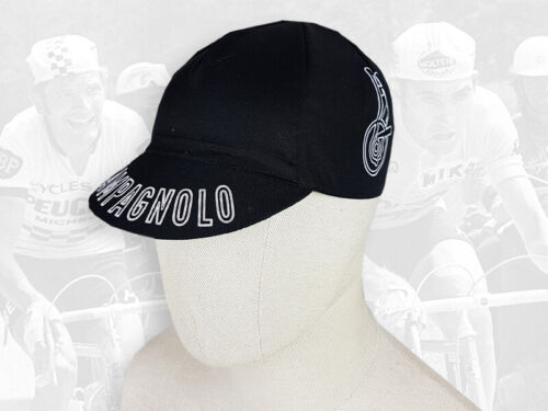 Campagnolo black Retro Vintage style Cycling Cotton Cap Eroica FREE SHIPPING