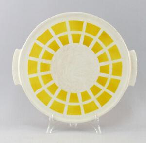 8445566-Keramik-Tortenplatte-Art-deco-Spritzdekor-um-1930-Kuchenplatte