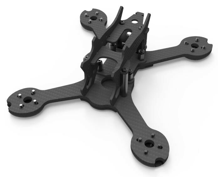 Drone FPV racer - Sky Hero OB1 Naked Frame 4 Inch