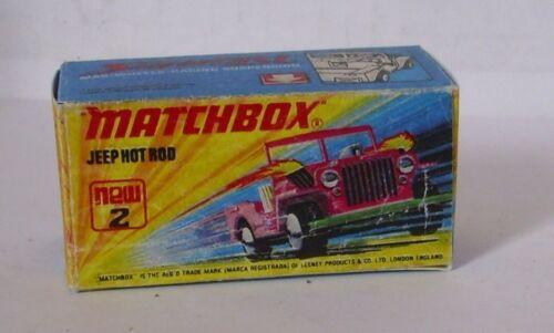 Repro box Matchbox Superfast nº 2 jeep Hot Rod
