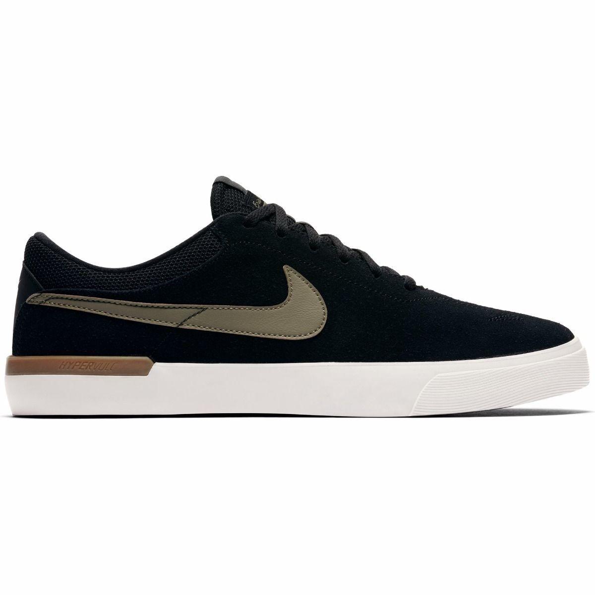 Nike SB Koston Hypervulc Black/Med Olive/Gum Med Brown - 7 - 13 NWT 844447-004