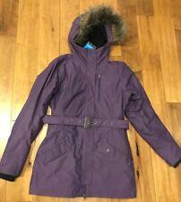 107f6d7f4a39 Columbia Midnight Snow II Fur Hood Women s Omni Heat Down Winter ...