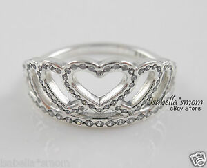 325f3edabe0 HEARTS TIARA Authentic PANDORA Silver/CZ CROWN Ring 9 (60) 190958CZ ...