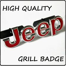 Jeep Grill Badge Emblem Chrome / Red Car Front Grille Logo High Quality Car 104g