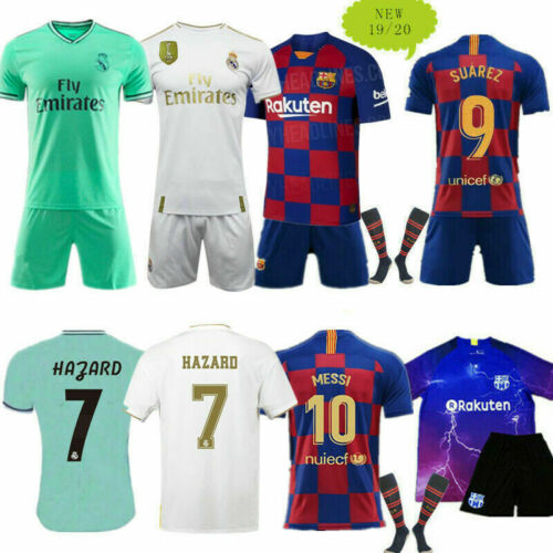 Youth Football Full Kits Kids Boys Jerseys Strips Sports Training Soccer Outfit