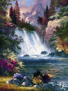 5D DIY Full Drill Diamond Painting Beautiful Scenery Letter Embroidery Craft Kit